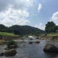 川上河川公園「蒜山から流れ出る冷たい水で川遊びを楽しむ^^」